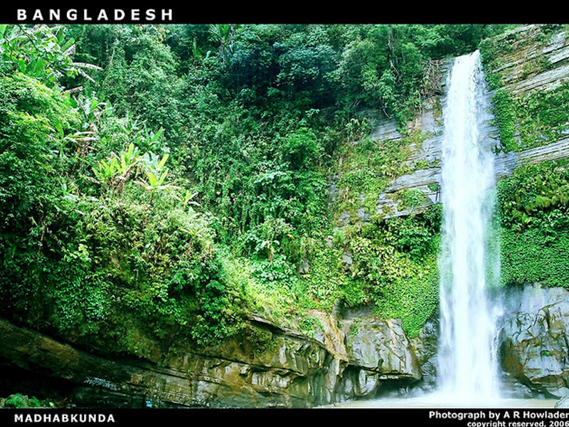 Travel to Bangladesh Madhabkunda Waterfall